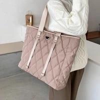 luxury designer womens big tote bags 2021 autumn winter female shoulder handbags high quality nylon large capacity shopping bag