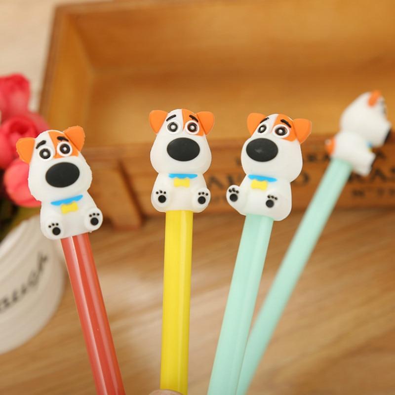 Горячее предложение! гелевая ручка для немой собаки Kawaii, креативные милые черные чернильные инструменты, канцелярские принадлежности для студентов