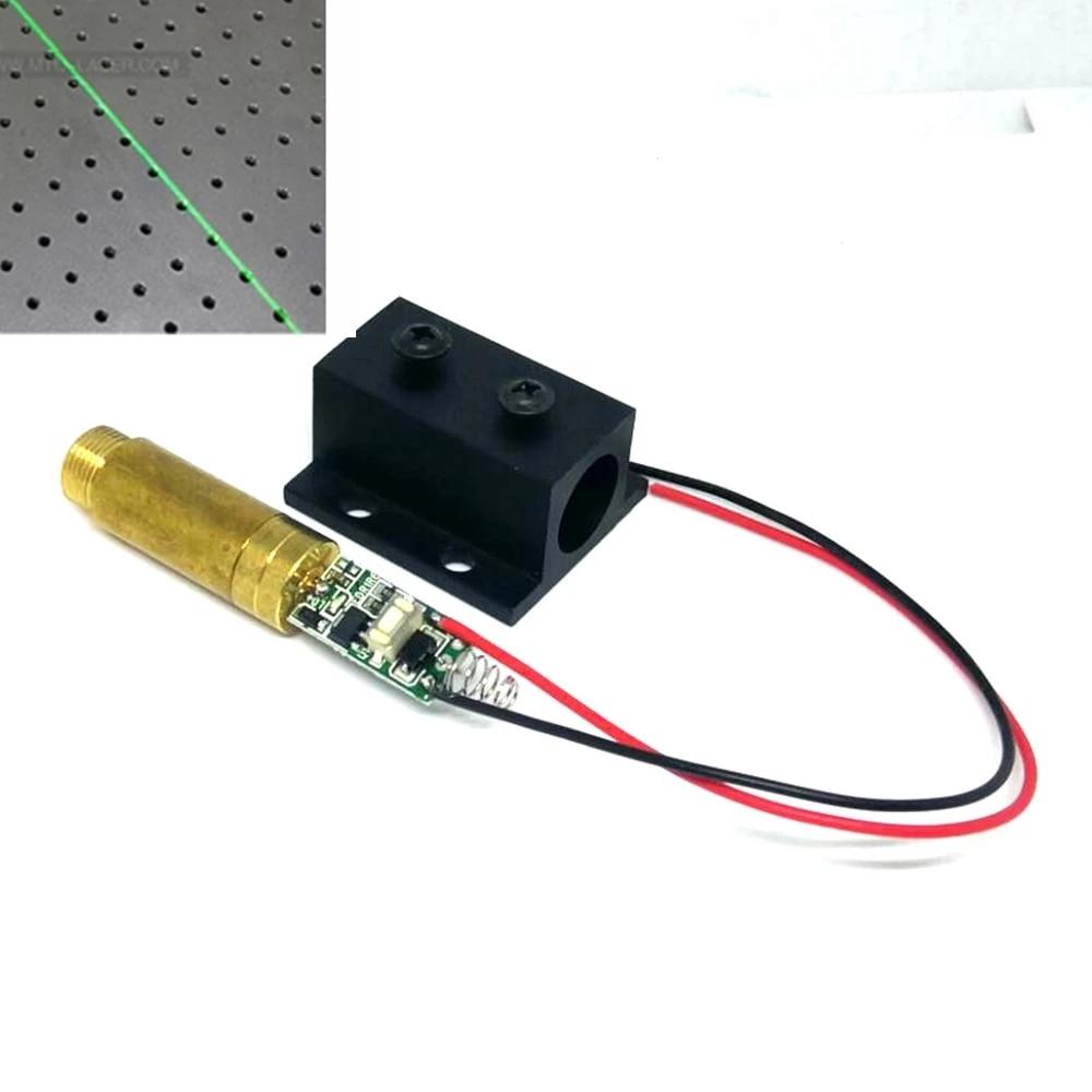 532 нм 10 мВт зеленый точка% 2 линия свет +лазер диод модуль w латунь корпус 3 В драйвер +% 26 12 мм охлаждение радиатор