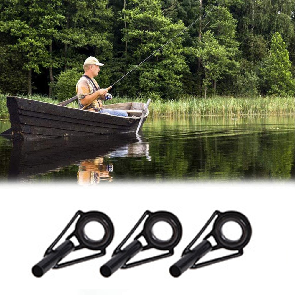 Fishing Rod Guide Tip Ring Fishing Guide Rings Stainless Steel Rod Eyes Ceramic Rings With Storage Box 80PCS Fishing Rod Guide enlarge