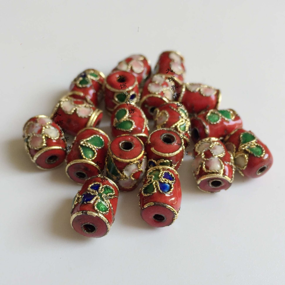 100pcs Cloisonne Filigree Enamel Oblong Small Beaded DIY Jewellery Making Necklace Bracelets Earrings Accessories Wholesale