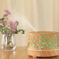 700Ml arome diffuseur aromatherapie bois Grain huile essentielle diffuseur ultrasons Cool brume humidificateur pour bureau maison ue Plug