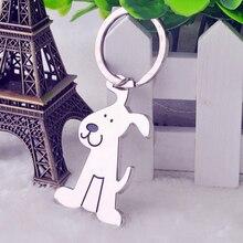1Pcs Fashion Cute Dog Shaped Metal Key Chain Keyring Key Holder Key Buckle Pocket Tools Lover Gifts