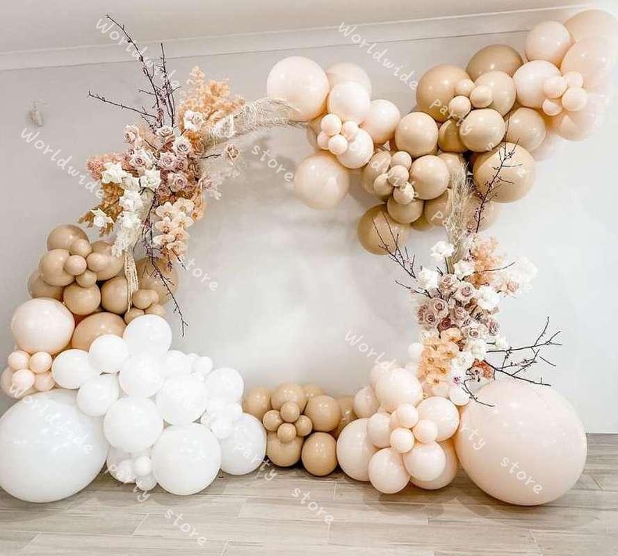 DIY Balloon Garland Arch Kit Balloon Birthday Party Wedding Latex White Retro Skin Baby Shower Background Decoration Baloon
