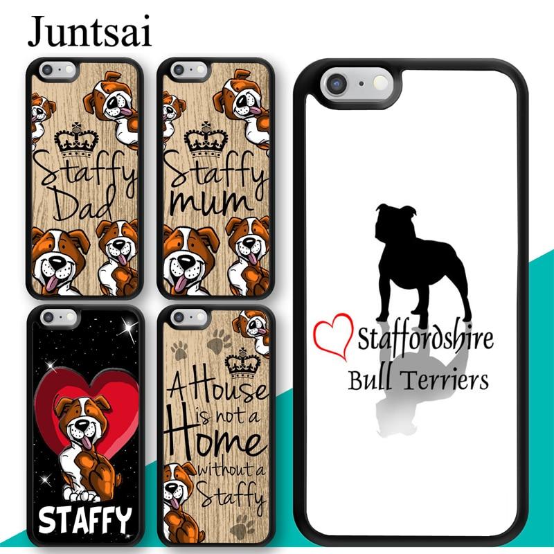 Staffy mum staffordshire bull terrier caso para iphone 11 pro max xr xs max x 5S se 2020 6 s 7 8 plus capa coque