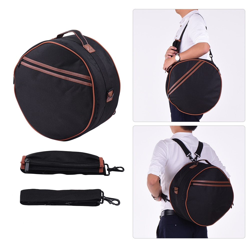 Professional 14 Inch 15-Tone Steel Tongue Drum Hand Pan Drum C Key Percussion Instrument with Drum Mallets Carry Bag