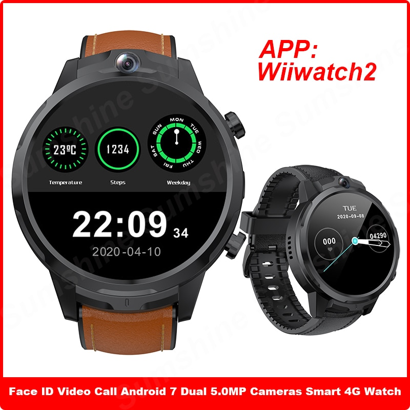 Men Smartwatch 4G 3GB 32GB Face ID GPS Dual 5.0 MP Cameras IP67 1080mAh Clock Android Smart Watch Call Phone For Huawei GT2 GT