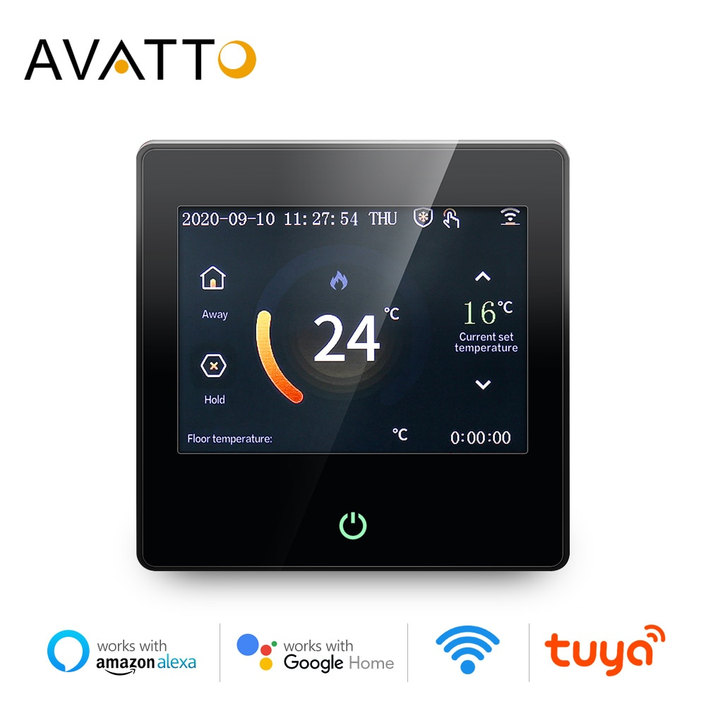 AliExpress - AVATTO WiFi Smart Thermostat Heating Temperature Controller with Celsius/Fahrenheit LED Touch Screen Work with Alexa Google Home