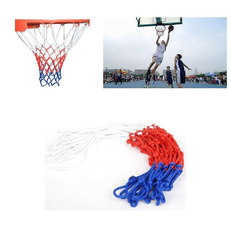 Filet de cerceau de but de basket-ball en Nylon Durable Standard 12 cerceau filet rouge/blanc/bleu