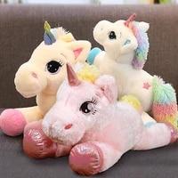 giant size 120cm unicorn plush toy soft stuffed rainbow unicorn doll animal horse toy high quality gifts for children girls