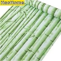 bamboo self adhesive wallpaper liner paper removable green peel and stick wallcoverings waterproof wall stickers for home decor