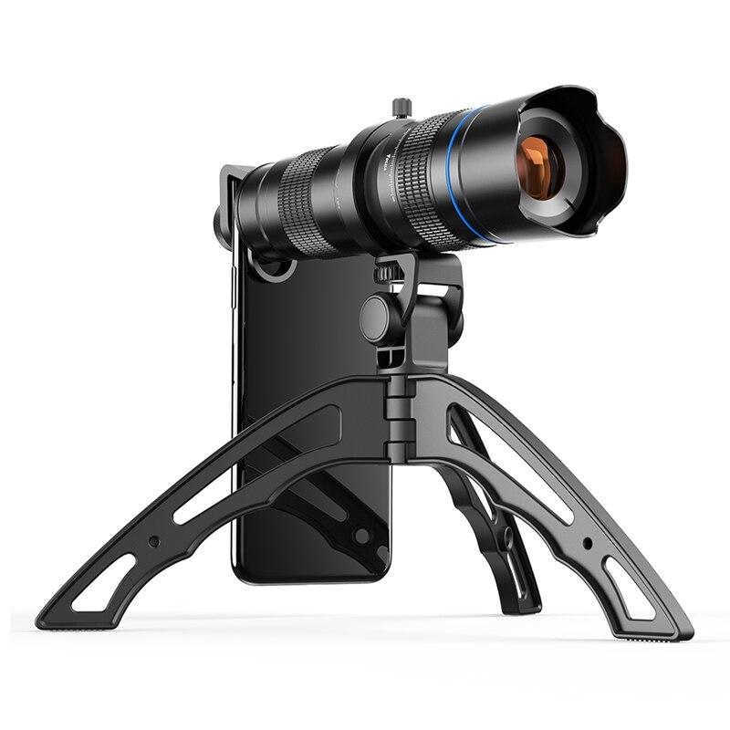 APEXEL-عدسة تكبير عالية الدقة مع ترايبود ، تلسكوب للهاتف الخلوي ، كاميرا تليفوتوغرافي لهاتف Samsung iPhone