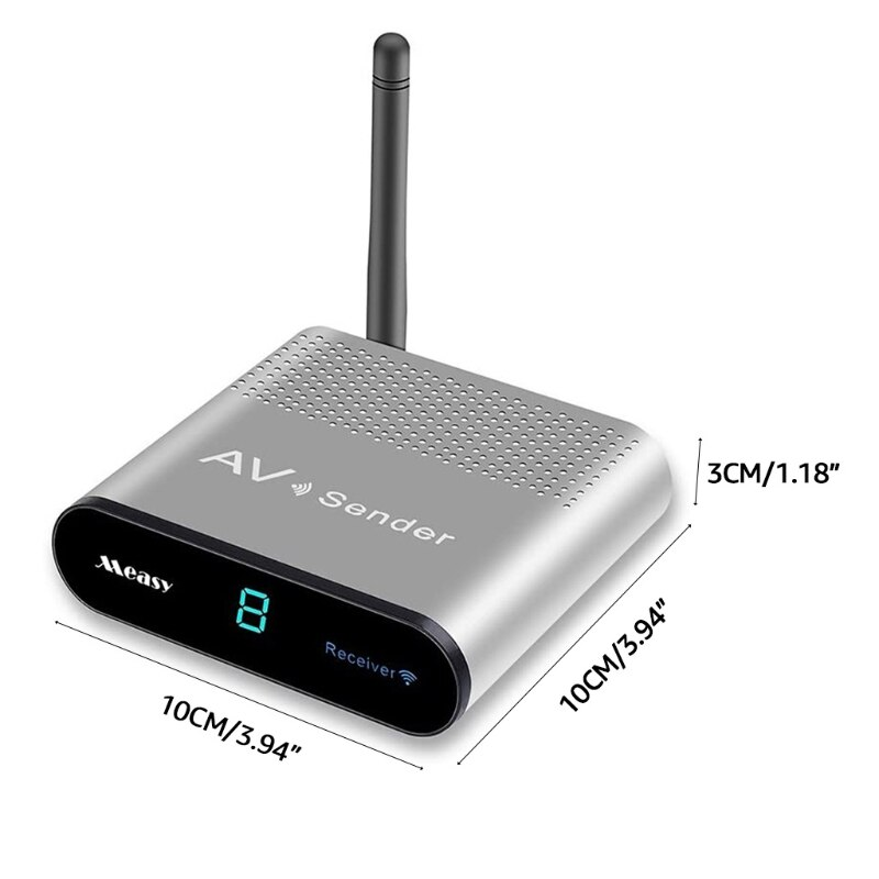 67JA 2.4GHZ 8 Channel Wireless Video & Transmitter & Receiver with Ir Remote Sender Receiver Long-distance enlarge