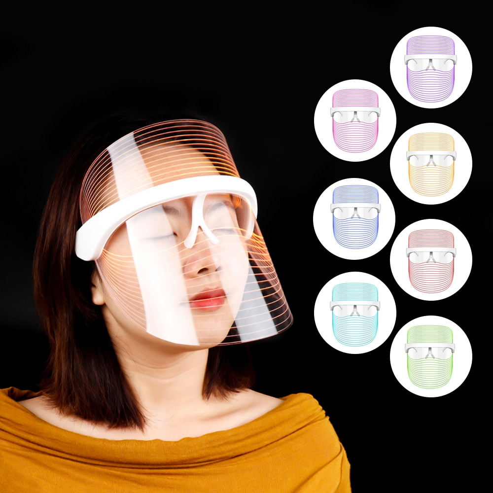 3 Colors LED Light Therapy Face Mask Photon Instrument Anti-aging Anti Acne Wrinkle Removal Skin Whiten Beatuy SPA Treatment