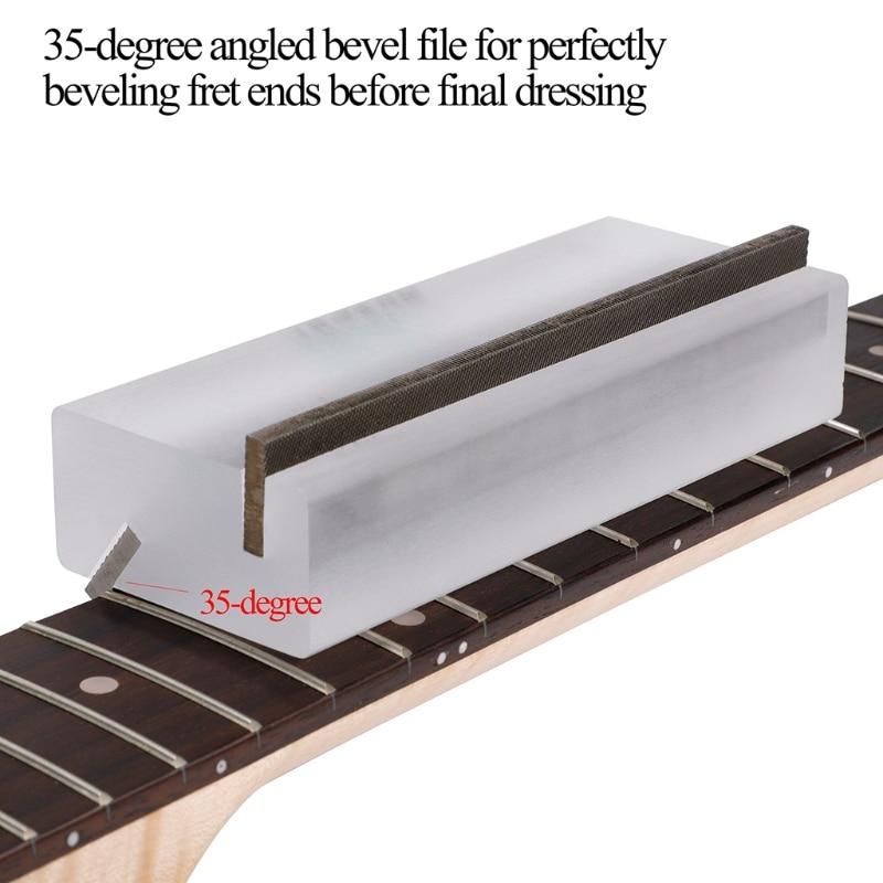 Guitar Acrylic Fret Crowning End Bevel-Flush Files Tool 35° 90° Degree Fret File enlarge