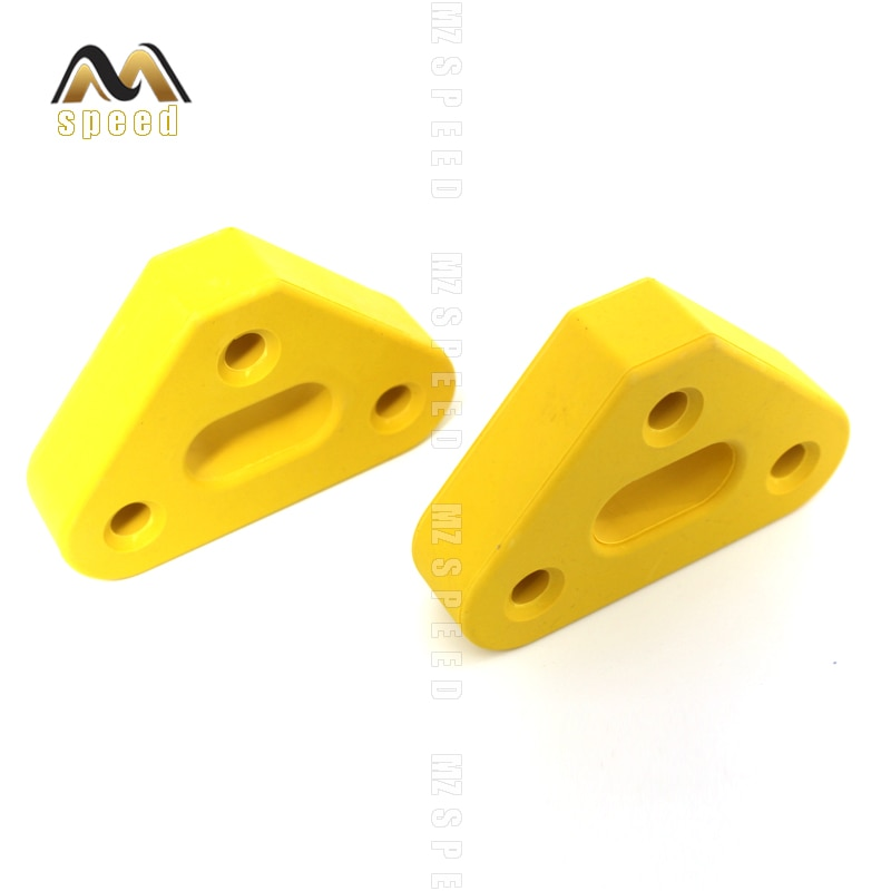 2pcs Car accessories 3 holes yellow universal exhaust pipe hanging shackle Hanging plastic hanging exhaust ear