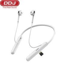 DDJ 5.0 sans fil Bluetooth casque HIFI Subwoofer mains libres appel multi-fonction bouton suspendu cou jeu écouteur avec carte