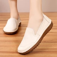 womens flats handmade shoes 2020 spring autumn genuine leather ladies shoe flat shoes women leather retro shoes
