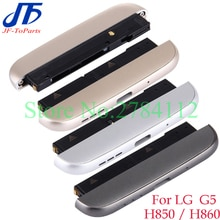 2pcs Bottom Cover For LG G5 H820 H830 H840 H850 H860 LS992 Bottom Housing Cap Loudspeaker Ringer USB Charging Port Flex Cable