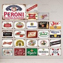 Corona Extra Beer Plaque Metal Tin Sign Miller Wall Art Poster Bar Pub Cafe Club Decoration Vintage Home Decor
