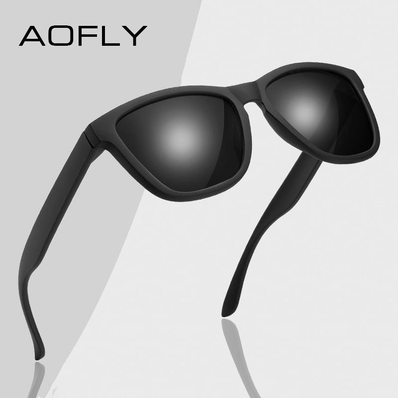 AOFLY BRAND DESIGN Fashion Polarized Sunglasses Men Women Square Male Sun Glasses Fishing Female Eyewear zonnebril heren UV400