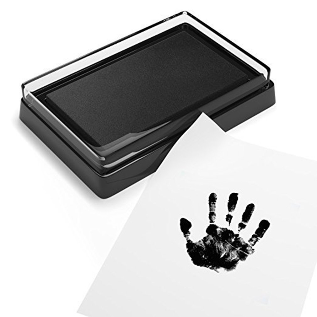 baby handprint footprint frame newborn footprint kit footprint child special gift for births and baptisms safe clean non toxic Baby Handprint Footprint Non-Toxic Newborn Imprint Hand Inkpad Watermark Infant Souvenirs Casting Clay Toy Gift Infant Footprint