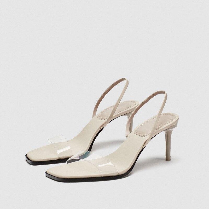 Famosa marca mesmo design de moda 2020 nova menina sandlas praça toe voltar cinta senhora sandálias sapatos