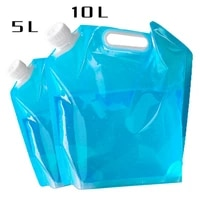 bbq water container outdoor water bag foldable portable drinking camping hiking cooking picnic bag carrier car 5l10l water tank