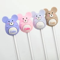 cute creative cartoon gel pens students writing tool black ink office accessories pen learning school stationery supplies