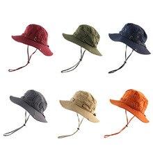 Hommes couleur unie pêcheur chapeau dames en plein air voyage randonnée pare-soleil chapeau coton pêche chapeau