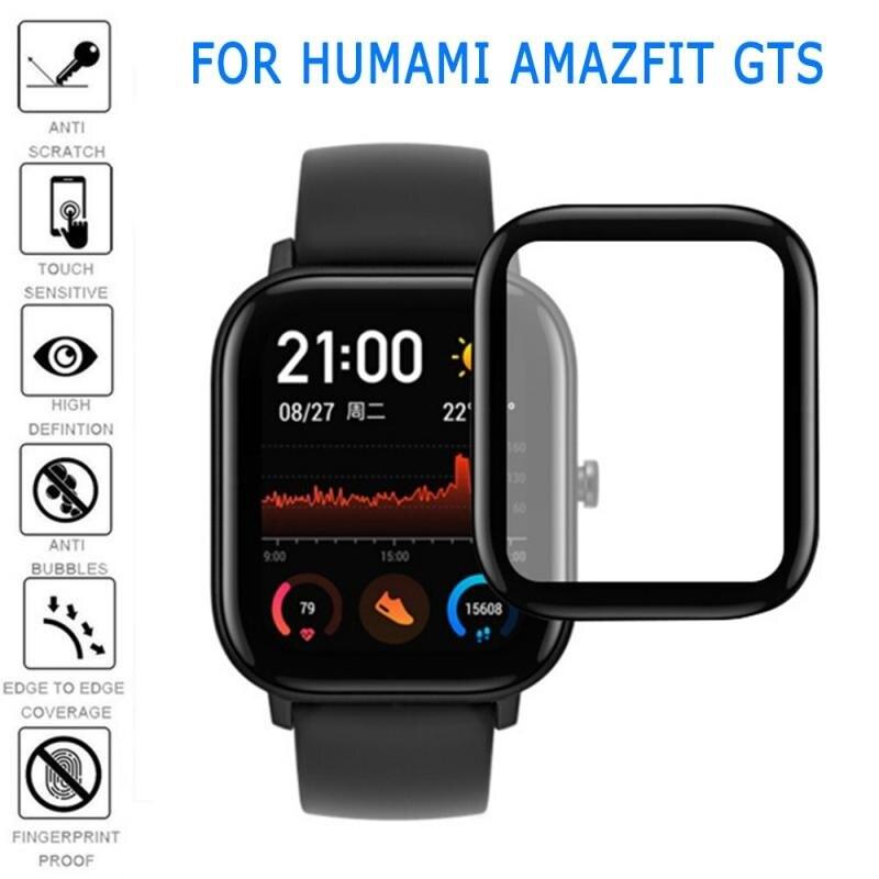 Изогнутая защитная пленка на весь экран, мягкая стеклянная пленка, защитная пленка для Xiaomi Amazfit GTS BIP S mini smart watch, защитная пленка