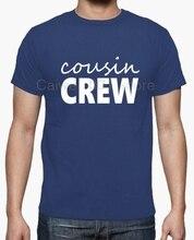 100% coton été mode rue à manches courtes t-shirt COUSIN équipage homme chaud hommes fun décontracté impression t-shirt