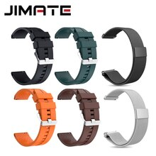 Correa de silicona de acero Jimate, accesorios de repuesto para reloj inteligente, ancho 22MM, pulsera, correa de reloj inteligente, pulsera