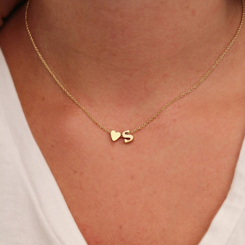 ailodo fashion cactus pendant wish card necklace gold silver color make a wish necklace party banquet jewelry girls gift 20feb20 Fashion Tiny Heart Dainty Initial Necklace Gold Silver Color Letter Name Choker Necklace For Women Pendant Jewelry Gift