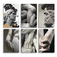 michelangelo sculpture art posters and prints black white david hand canvas wall art paintings pictures room home decor