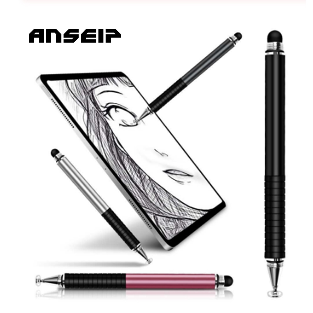 ANSEIP Touch Screen Pen for iPhone/Samsung/iPad Tablet Pen Drawing Pencil 2in1 Capacitive Stylus Pen