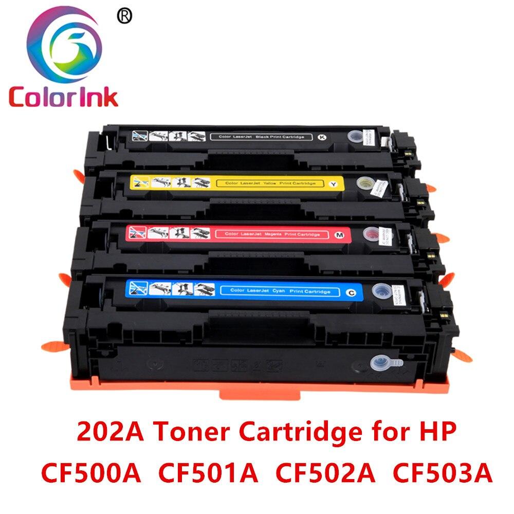 ColorInk 202A 202 500A CF500A cf501a cf502a cf503a cartucho de toner toner para hp LaserJet Pro chip de MFP HP202A M280nw M281cdw impressoras
