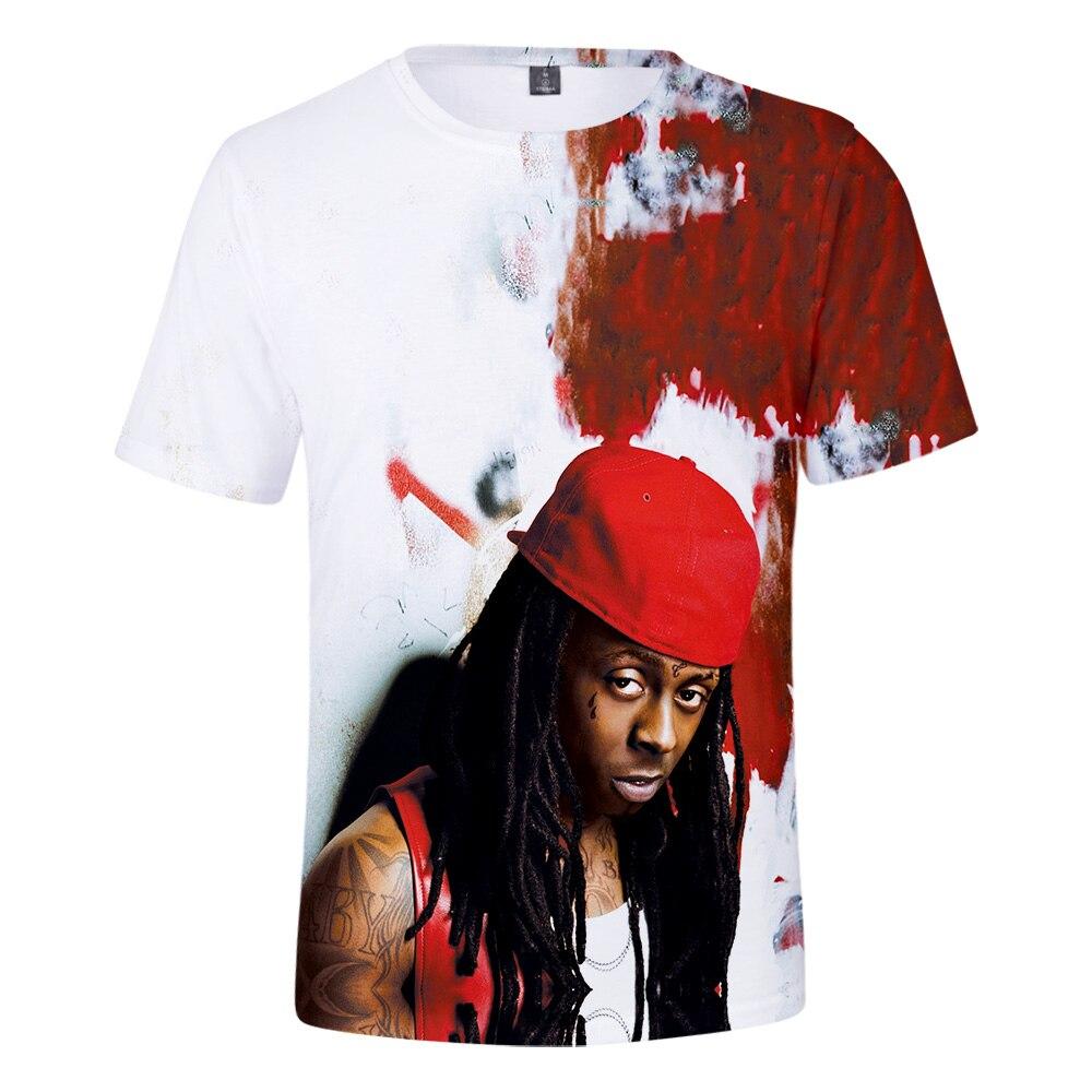 F.T Hüfte hop Heißer Jungen Rapper Lil Wayne Dwayne Michael Carter Jr. 3D t-shirt Männer/Frauen sommer Beiläufige Kurze hülse t shirt Kleidung