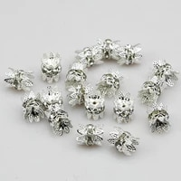 10 pcs quality goldsilver plated tone flower bead caps findings diy jewellery making 6mm 8mm