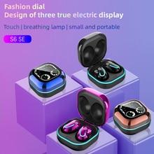 FLUXMOB S6 SE Беспроводной наушники Auriculares Bluetooth гарнитура 5,0 Наушники Hi Fi звук мини наушники с зарядным устройством для всех смартфонов