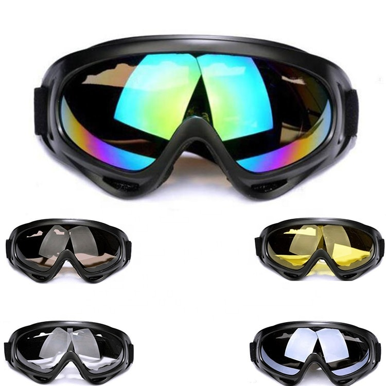 Winter Snow Sports Skiing Snowboard Snowmobile Anti-fog Goggles Windproof Dustproof Glasses UV400 Sk