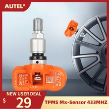Capteur de surveillance de pression des pneus Autel MX-capteur 433MHZ universel Programmable TPMS 433MHz pour Ford pour BMW pour Land Rover plus