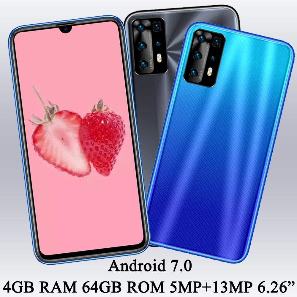 هاتف محمول 4G RAM + 64G ROM Z5 بشاشة 6.26 بوصة هاتف ذكي عالمي 5MP + 13MP مفتوح كاميرا أمامية/خلفية هاتف أندرويد 7.0 خاصية التعرف على الوجه