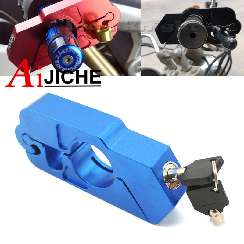 Motorcycle Handlebar Lock Brake Clutch Security Safety Theft Protection Scooter Locks For Yamaha R1 R6 R3 MT-07 MT-09 MT-10 R1M