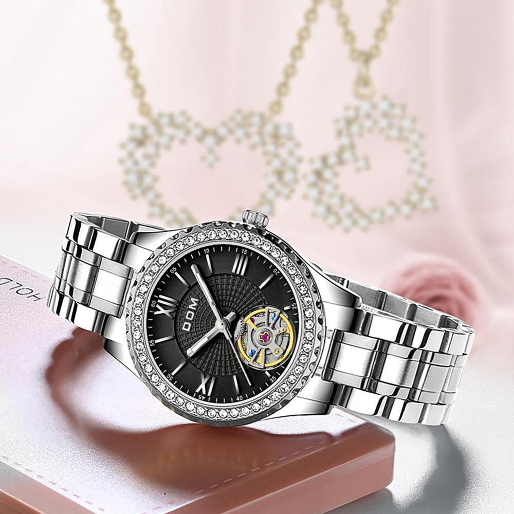 DOM automatic mechanical watch  sports men's watch  business couple watch luminous  stainless steel waterproof female watch enlarge