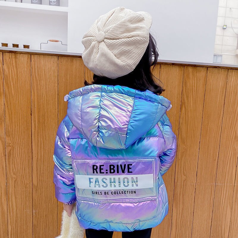 New Colorful Children's Down Jacket Winter Hooded Boy and Girl Jacket Baby Fall Winter Coat Jacket W