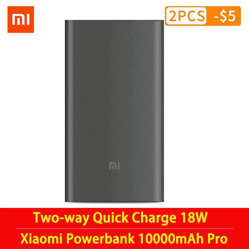 Original mi Xiaomi Power Bank 10000mAh Pro Typ-C Externe Batterie tragbare lade 10000mAh Zwei-weg quick Charge 18W Power