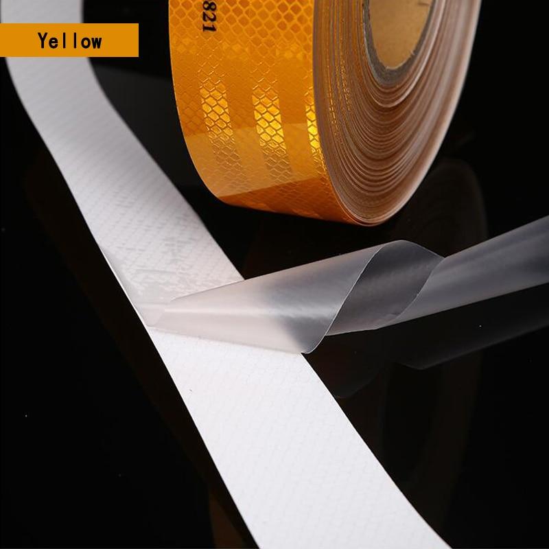 Декоративная наклейка для Автомобильная отражающая лента, автомобильная предупреждающая светоотражающая пленка для тюнинга автомобилей