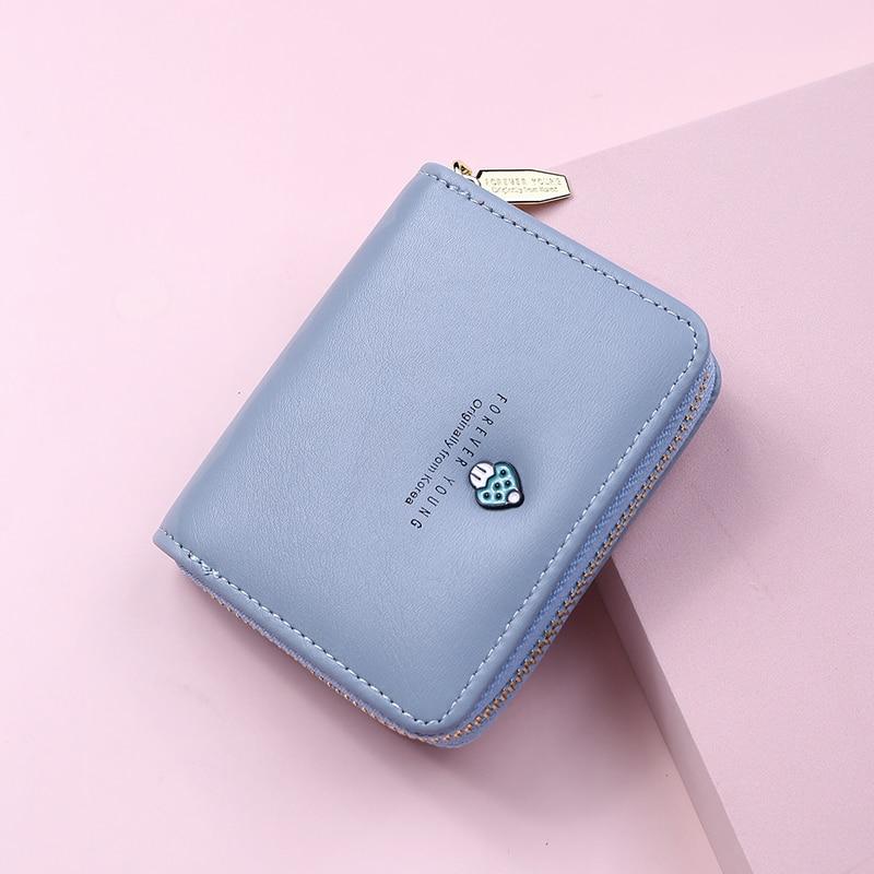 Women Wallet Fashion Cute Mushroom Money Bag Ladies Short Leather Clutch  Girl Small Purse Coin Purs