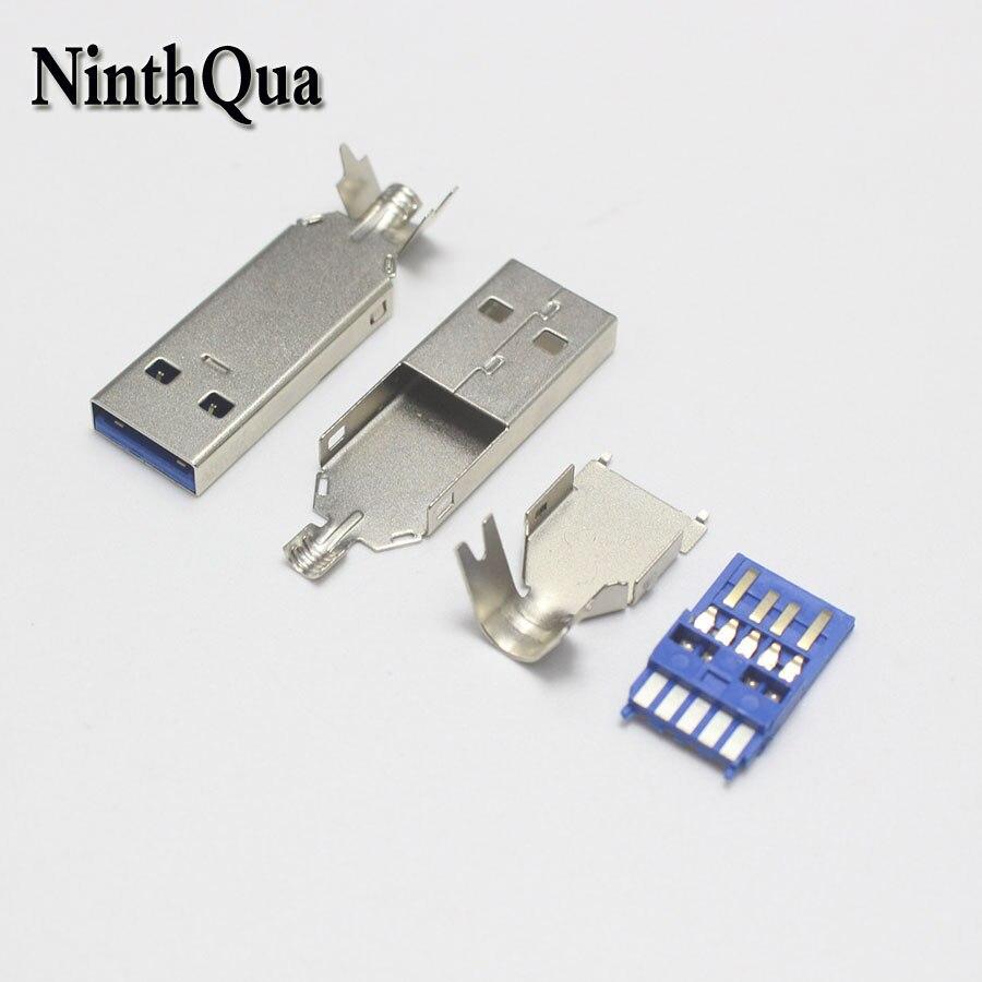 2 комплекта синий USB3.0 3 в 1 сварочный Тип штепсельная вилка 2A шарообразный разъем для самостоятельного ремонта данных линия наушников никели...